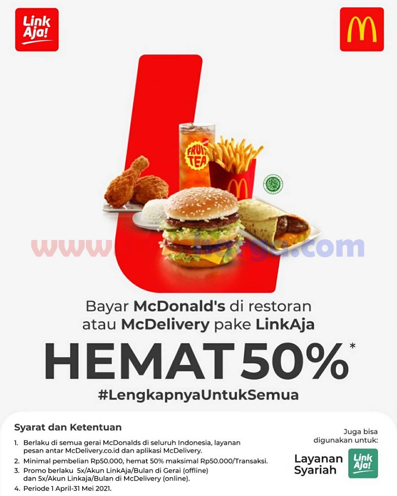 McDonalds Promo Cashback 50% dengan LinkAja