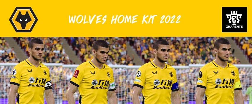 Wolves Home Kit 2021-2022 For eFootball PES 2021