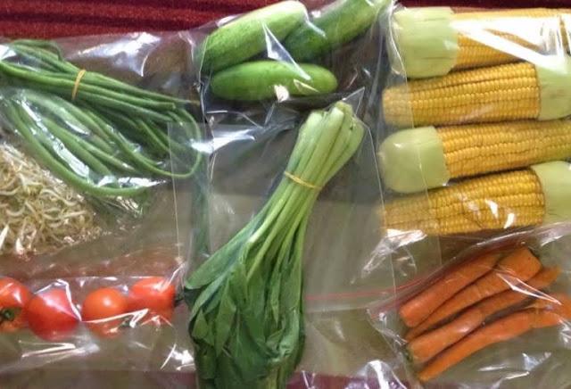 sayur di plastik