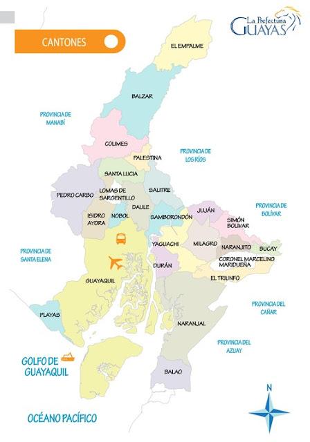 mapa guayas cantones