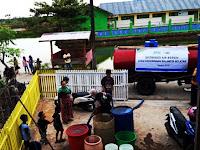 Warga Menjerit Krisis Air Bersih, BPBD Pangkep hanya Mampu Suplai 2 Tangki Perhari