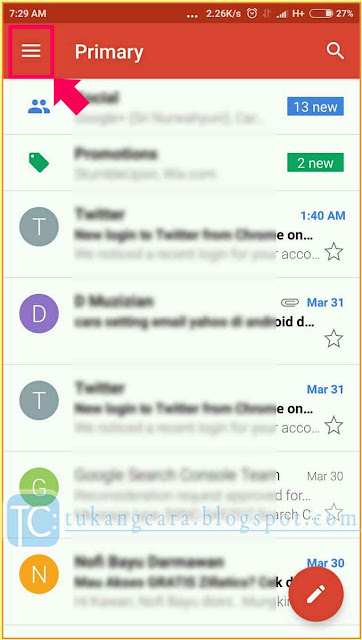 Buka Email Gmail Lewat HP