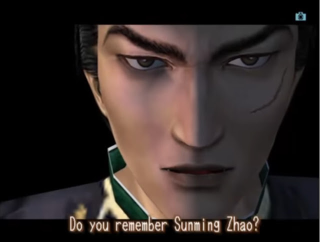 "In a replay of the same scene in Shenmue II, his name is now ""Sunming Zhao""."