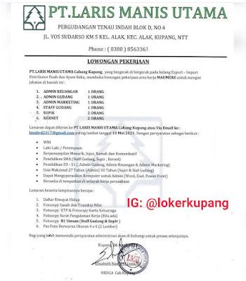 Lowongan Kerja PT. Laris Manis Utama Cabang Kupang