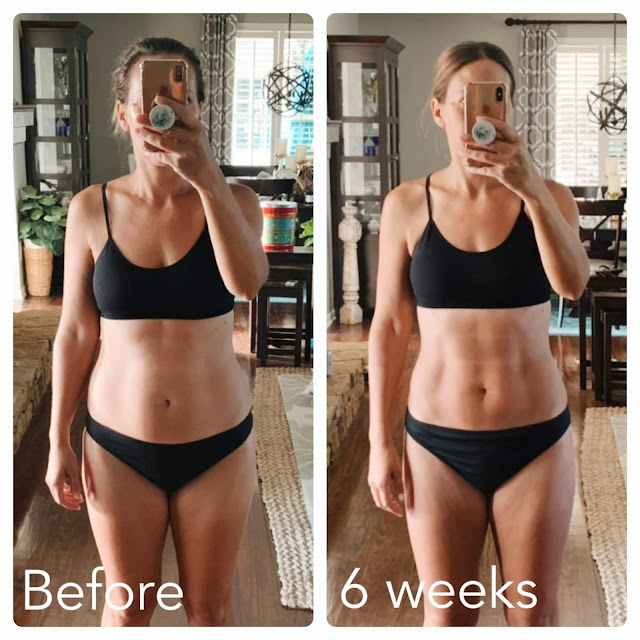 """My Faster Way to Fat Loss Journey: Before and After Photos and why I FREAKING LOVE this program!  Seeing the progress I""""ve made in just 6 weeks is extremely motivating to continue this lifestyle!  What will my after photos look like in 12 weeks, or 6 months or 1 year?  / Midwestern Mama  #fwtfl fasterwaytofatloss #healthyeating #nutrition"""