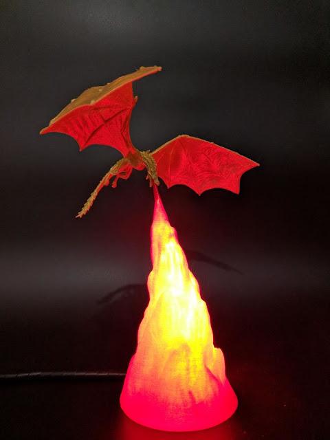 مصباح بشكل تنين ينفخ النار , مسلسل  لعبة العروش ,Game of Thrones