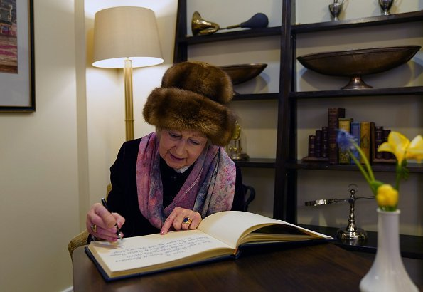 Princess Alexandra attended the Royal Star and Garter Home in Surbiton on their Founders' Day celebrations. Fur hat