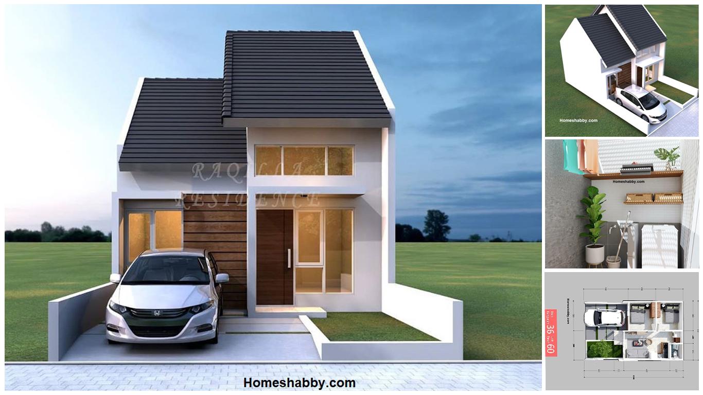 Desain Dan Denah Rumah Type 36 60 M2 2 Kamar Tidur Inspirasi Laundry Room Di Ruang Sempit Yang Tampil Lebih Kekinian Homeshabby Com Design Home Plans Home Decorating And Interior Design