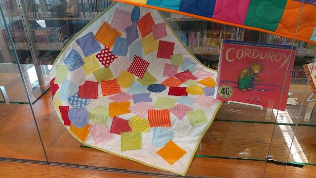 Crazy applique quilt from Corduroy book