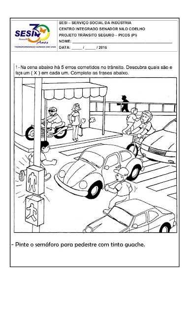 Semana do Trânsito Educação Infantil Atividades