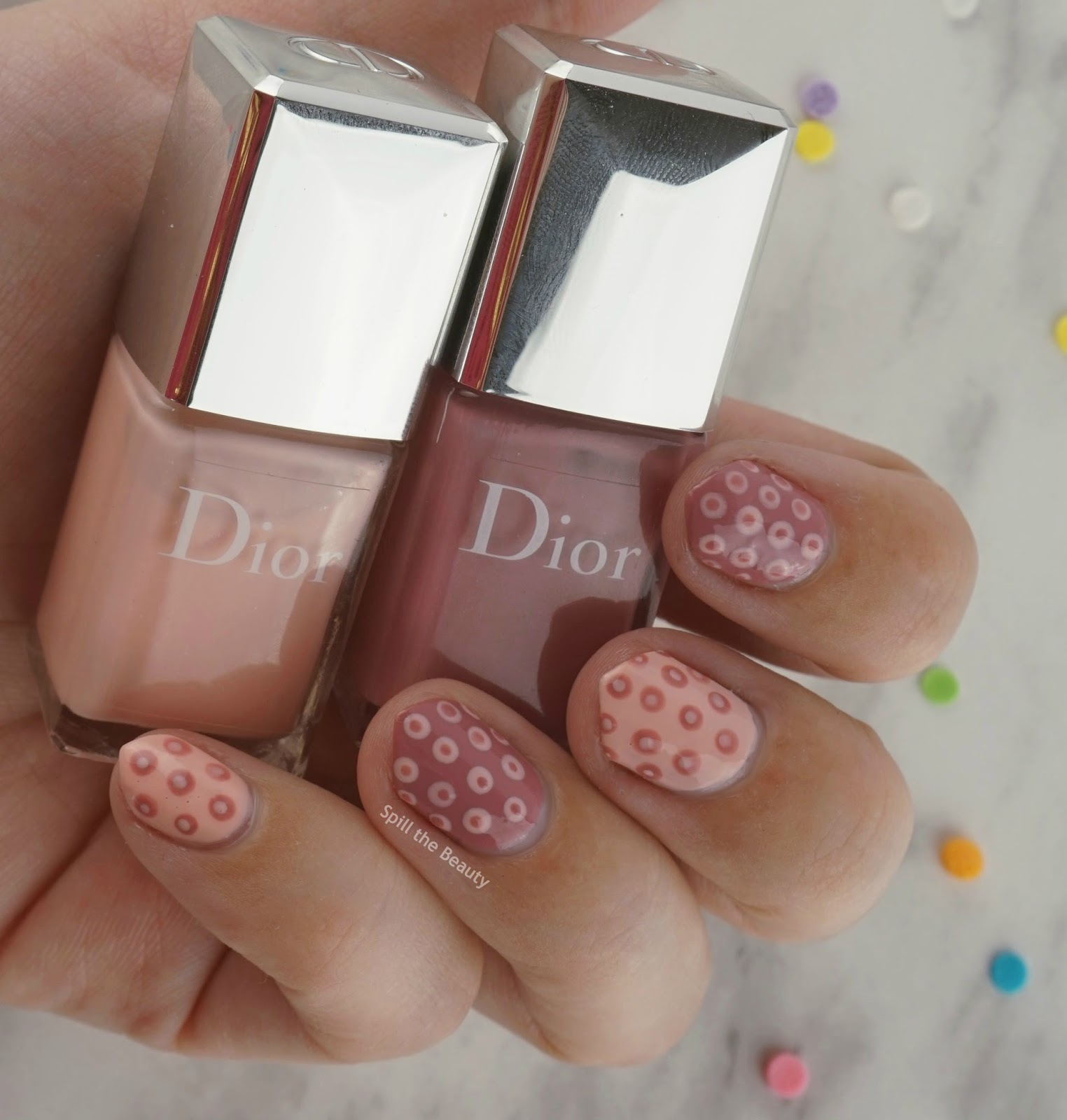 Dior Vernis #262 and #582 from the 003 'Plumetis' Kit