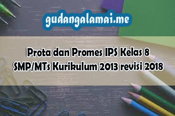 Prota dan Promes IPS Kelas 8 SMP/MTs Kurikulum 2013 revisi 2018