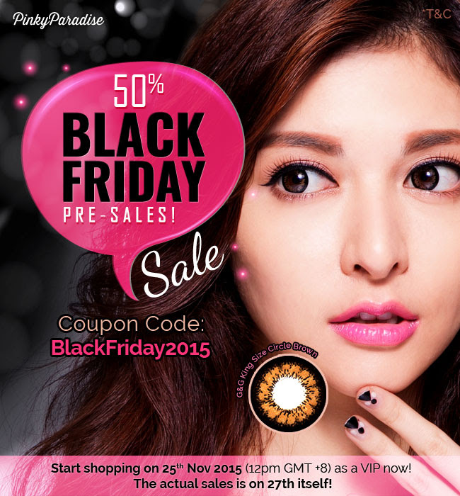 pinky paradise black friday, black friday deal, early bird, circle lens, colored contacts, discount, coupon code, pinkyparadise coupon, pinky paradise coupon, pinkyparadise discount code, pinky paradise promo code