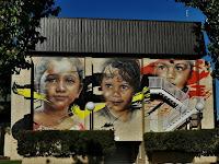 Wodonga Street Art | Adnate mural at Wodonga City Council Building