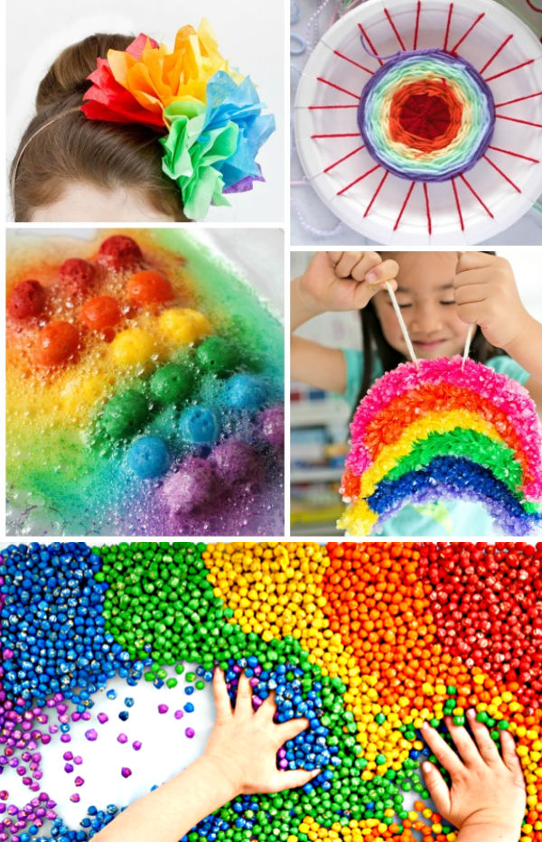 "50+ WAYS FOR KIDS TO ""MAKE A RAINBOW"" - I can't wait to try some of these! #rainbowartforkids #rainbowactivitiespreschool #rainbowcrafts #rainbowexperimentsforkids #growingajeweledrose #activitiesforkids"