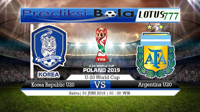 PREDIKSI Korea Republic U20 vs Argentina U20  01 JUNI 2019