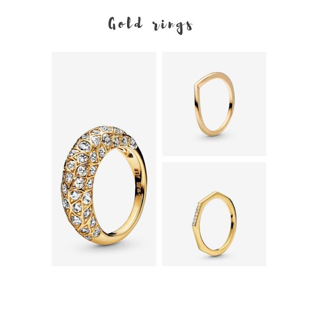 Pandora gold rings
