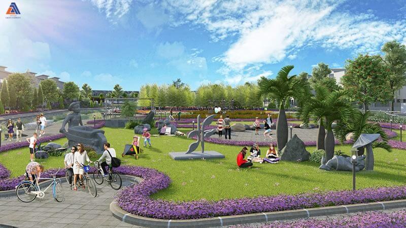 Công viên xanh khu đô thị Vân Canh An Lạc