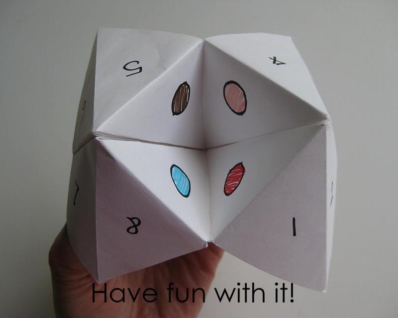 My Handmade Home: Tutorial: Origami Fortune Teller - photo#9