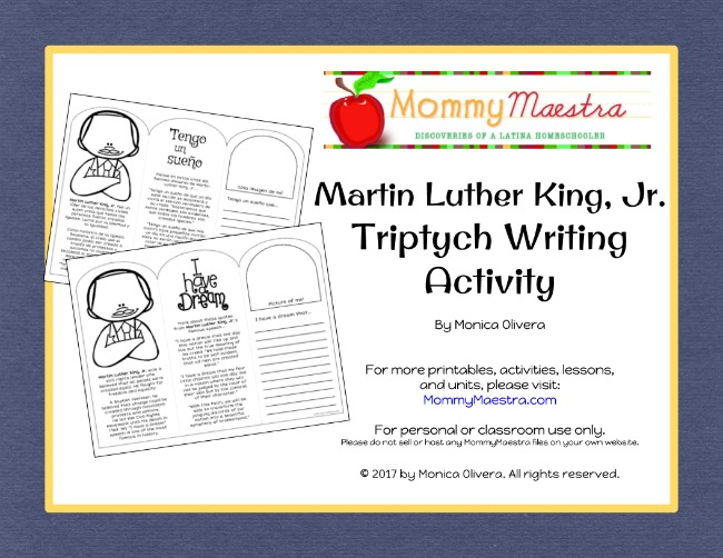 Mommy maestra martin luther king jr writing triptych activity but i have one more printable i want to share it is designed to make children think about what they would like to see happen in our country ibookread Read Online