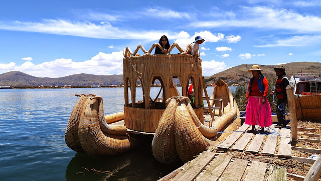 Totora Reed Boats, Uros Islands, Lake Titicaca, Peru
