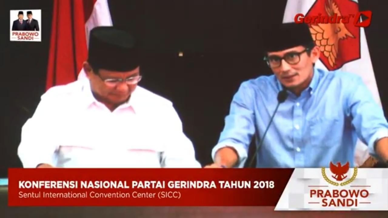 Kenalkan Prabowo Presiden Indonesia 2019-2024, Sandi Sebut 3 Kalimat Suci Ini