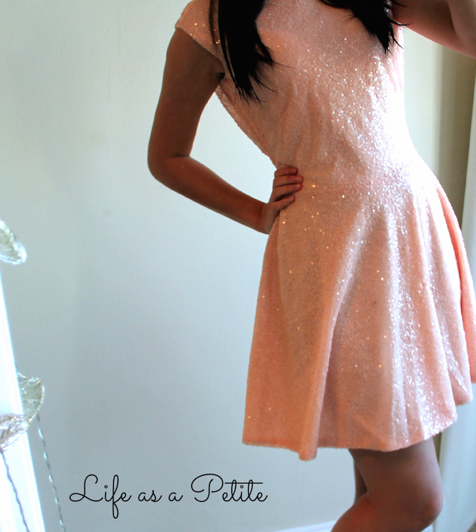 Nude Sequin Dress (life as a petite)