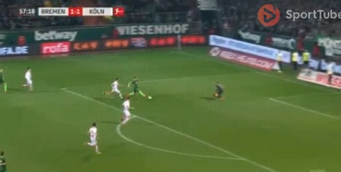 Milot Rashica's first goal in Bundesliga 1 for Bremen