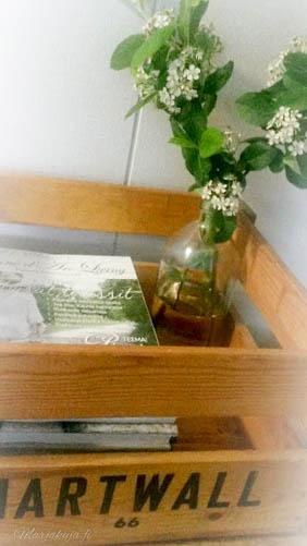 hartwall vanha puulaatikko sisustuskessa