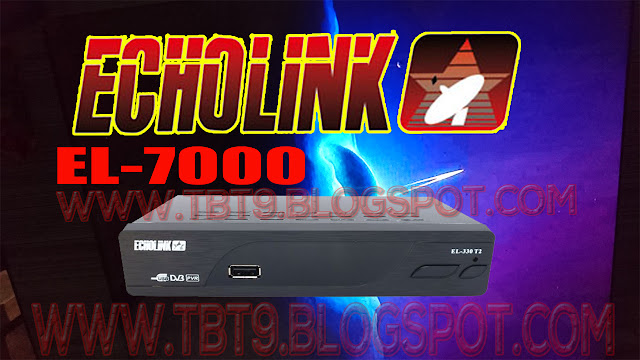 ECHOLINK EL-7000 FULL HD WITH VLINE OPTION & POWERVU KEY TEN SPORTS OK NEW SOFTWARE