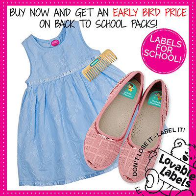 Lovable Labels Early Bird Back to School Sale ~ #Review #Giveaway