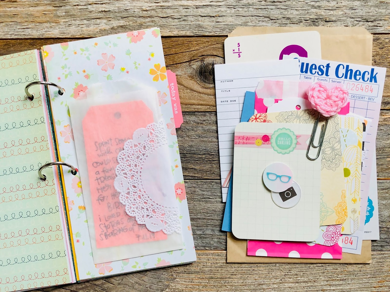 #travelers notebook #junk journal #journaling #lists #journal cards #instant download #printable #mixed media #journal