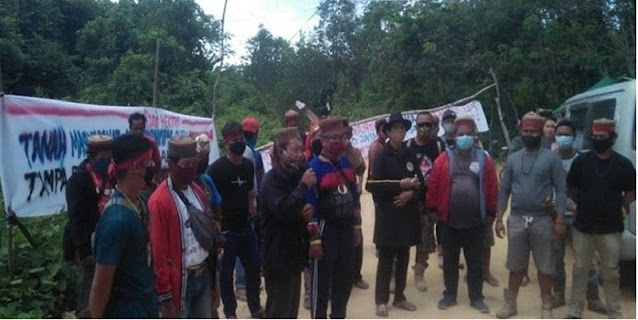 Koalisi Adat Dayak Modang Long Wai Desak Tiga Tokoh Yang Ditangkap Segera Dibebaskan