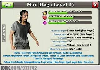 meme coc mad dog