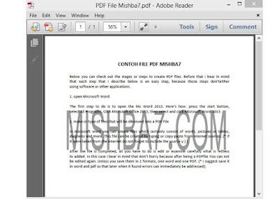 Membuat File PDF Melalui Ms Word