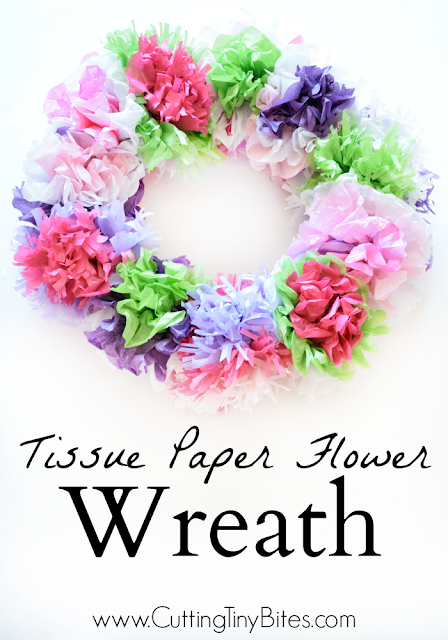 Tissue Paper Flower Wreath What Can We Do With Paper And Glue