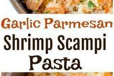 Garlic Parmesan Shrimp Scampi Pasta!