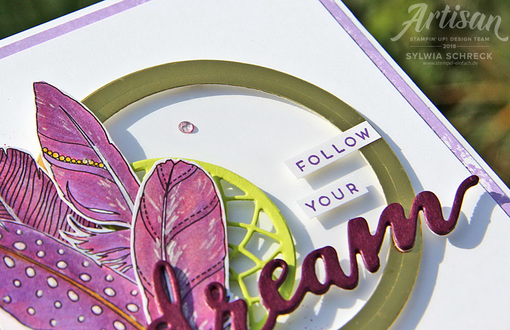 follow your dreams-stampin up