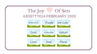 The Joy of Sets Tic Tac Toe Challenge Grid for February 2020 - #JOSTTT014