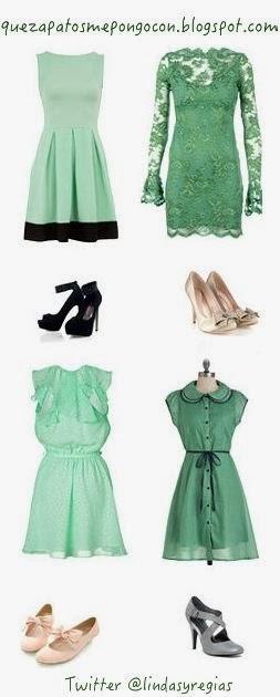 e9d049a8de QUE ZAPATOS ME PONGO CON UN VESTIDO VERDE - Como combinar zapatos - What  kind of shoes should i wear with a green dress  ~ QUE ZAPATOS ME PONGO CON