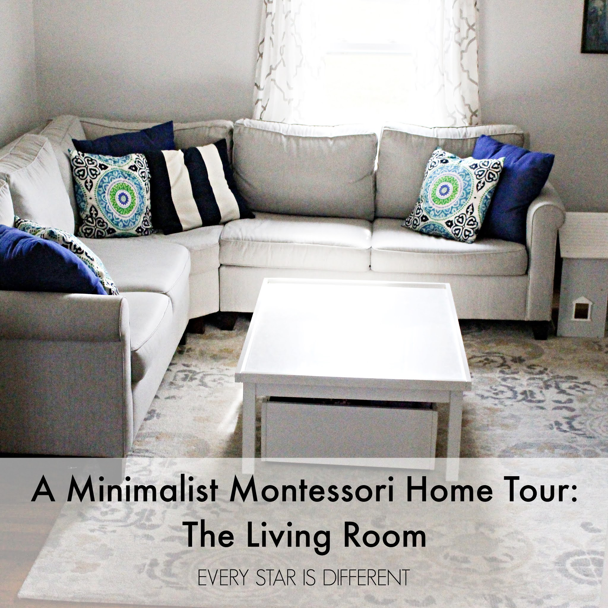 A Minimalist Montessori Home Tour: The Living Room