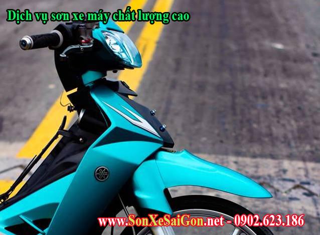 Sơn xe máy Yamaha Sirius màu xanh ngọc lục bảo cực đẹp