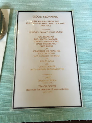 Llandudno The Wilton Hotel B&B menu