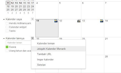 Jelajahi Kalender Menarik