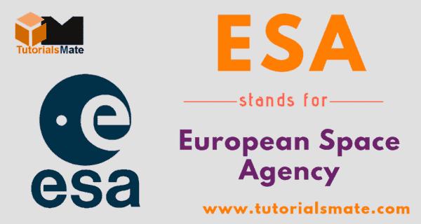 ESA Full Form