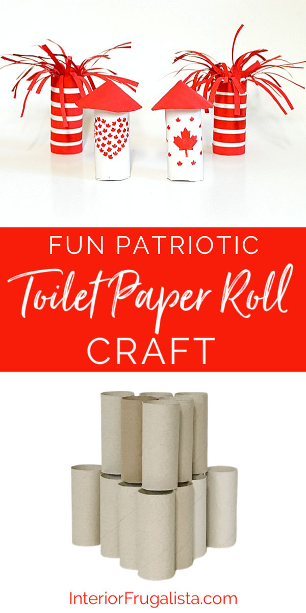 Add some extra fun to your Canada Day OR 4th of July wiener roasts with these DIY Patriotic Toilet Paper Roll Sparkler and Rocket Style Fire Starters! #patrioticcrafts #outdoorfun #campingideas #homemadefirestarters
