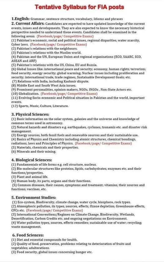 Download PDF Books for FIA Tests 2021 for Different Posts- www.merenukkri.com