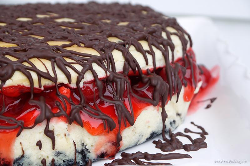 White Chocolate Cherry Cheesecake