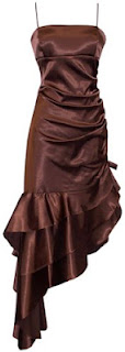 brown prom dress