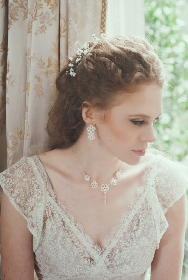 Heavenly Vintage Wedding Dresses BUTTERFLY and Judith Brown jewellery